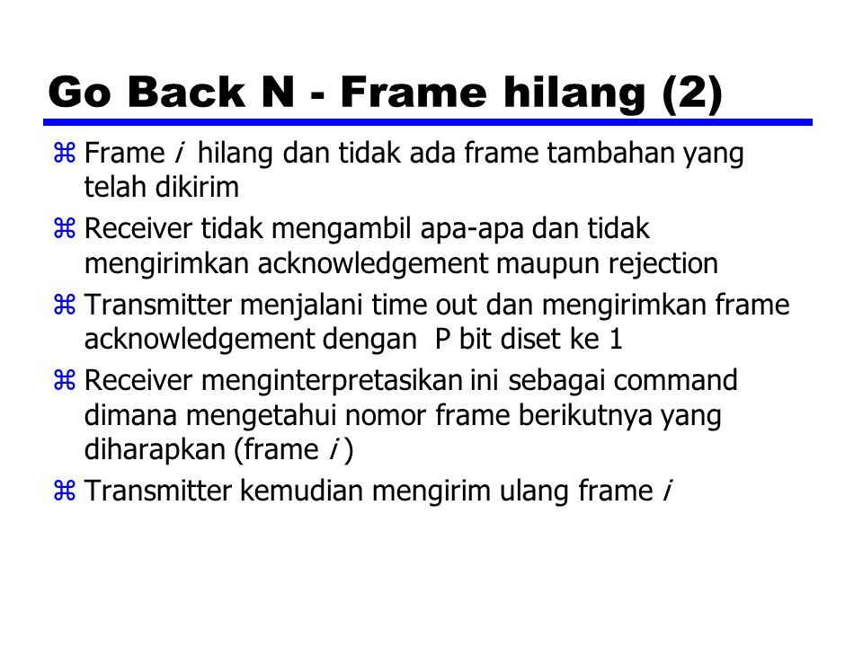 Go Back N - Frame hilang (2)
