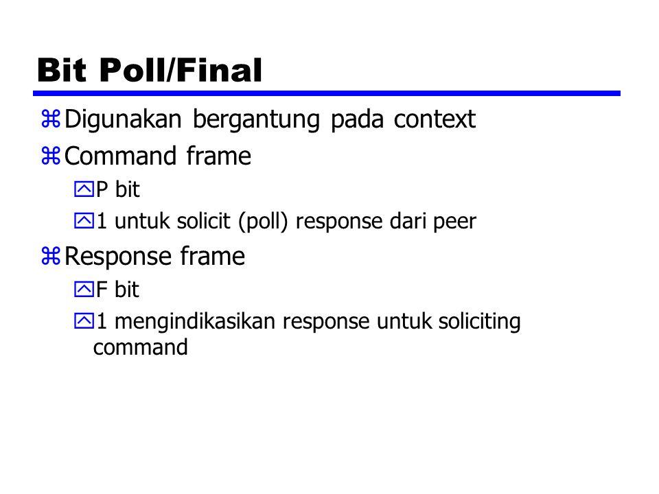 Bit Poll/Final Digunakan bergantung pada context Command frame