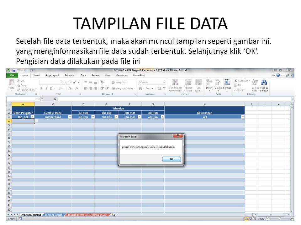 TAMPILAN FILE DATA