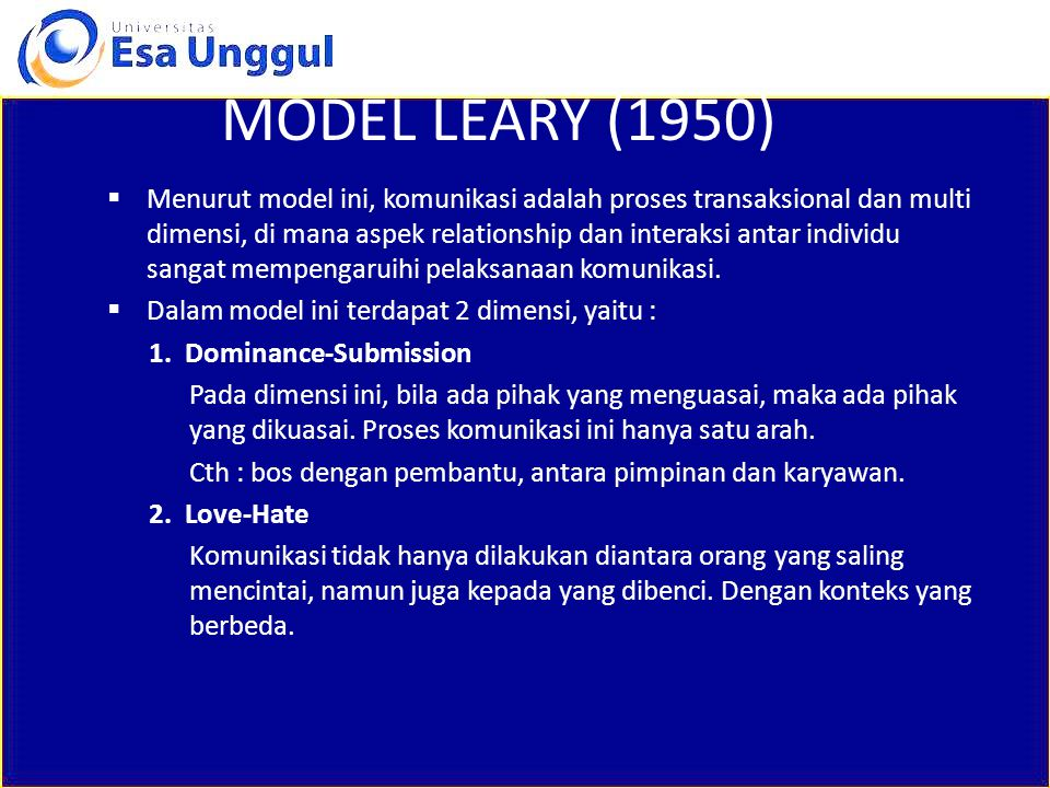 MODEL LEARY (1950)