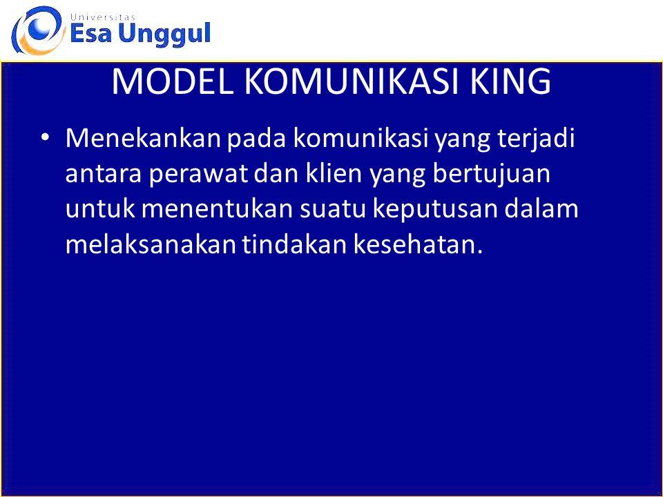 MODEL KOMUNIKASI KING