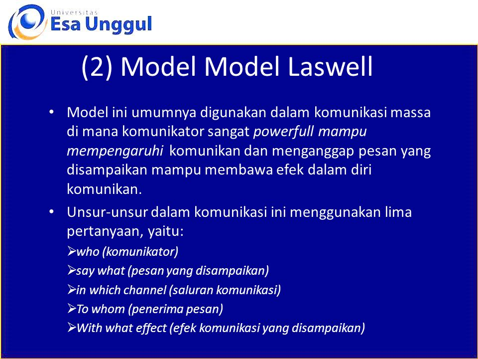 (2) Model Model Laswell