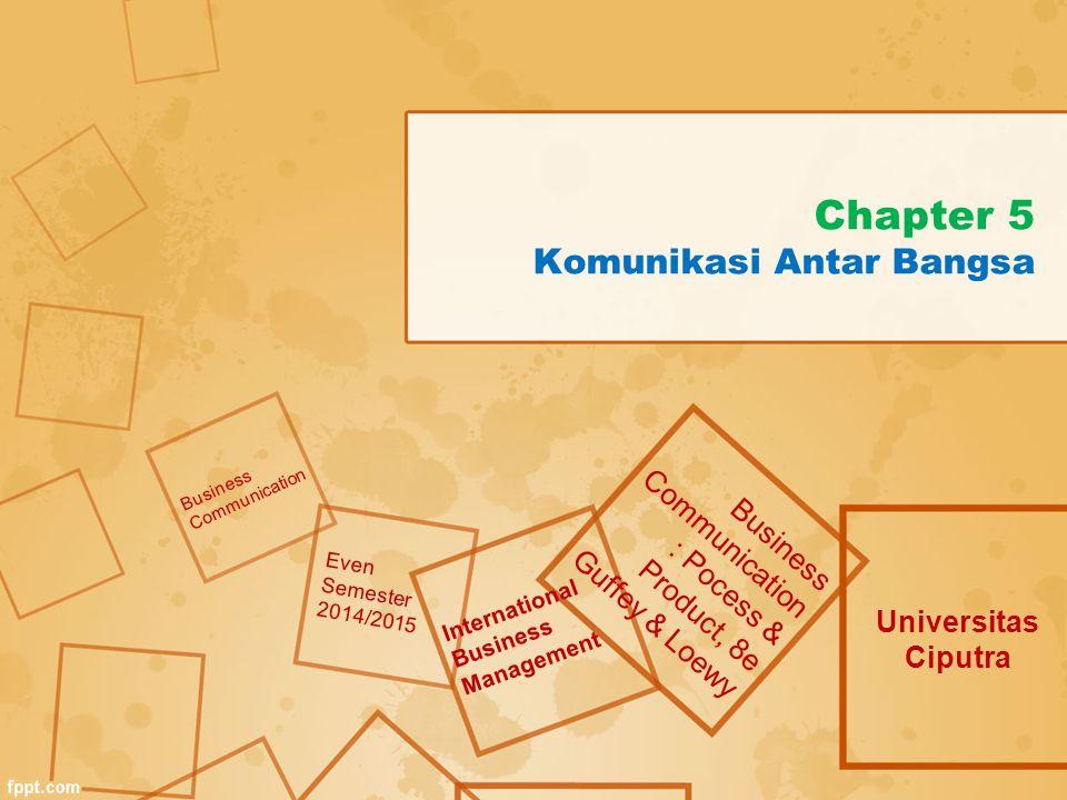 Chapter 5 Komunikasi Antar Bangsa