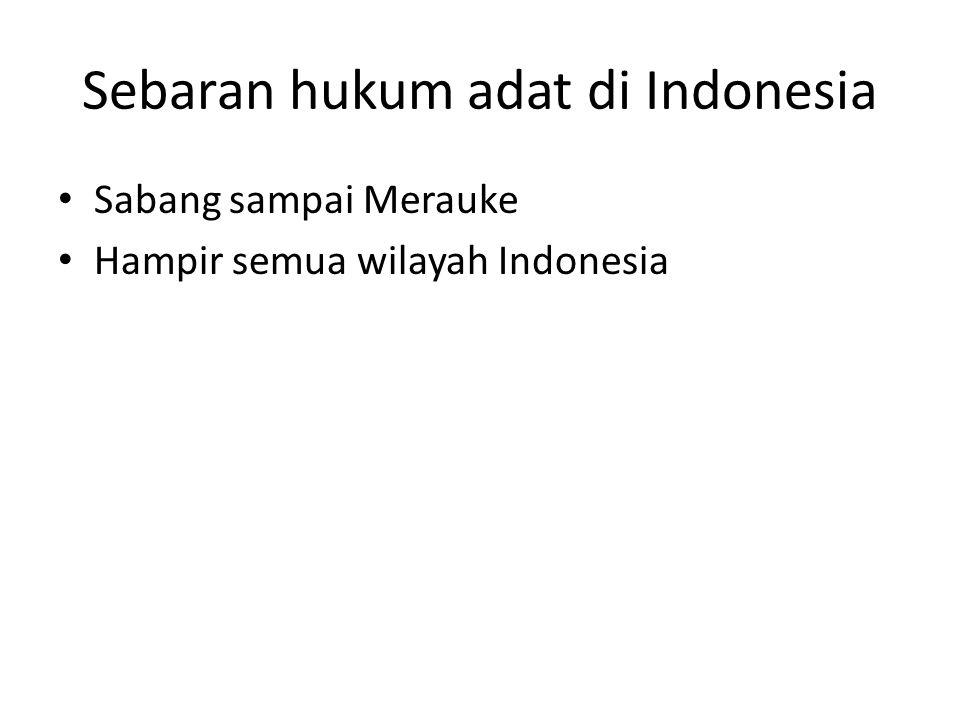 Sebaran hukum adat di Indonesia