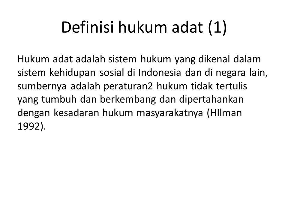 Definisi hukum adat (1)