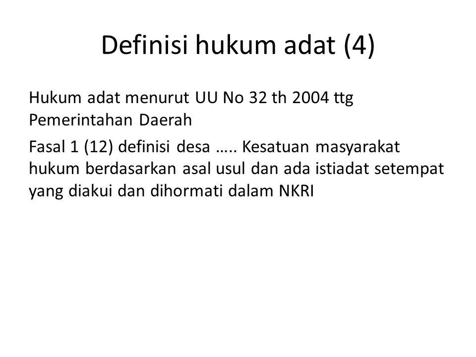 Definisi hukum adat (4)