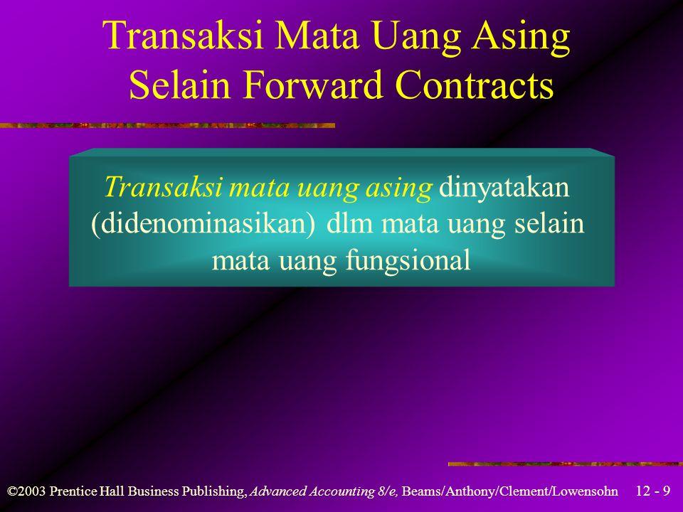 Transaksi Mata Uang Asing Selain Forward Contracts