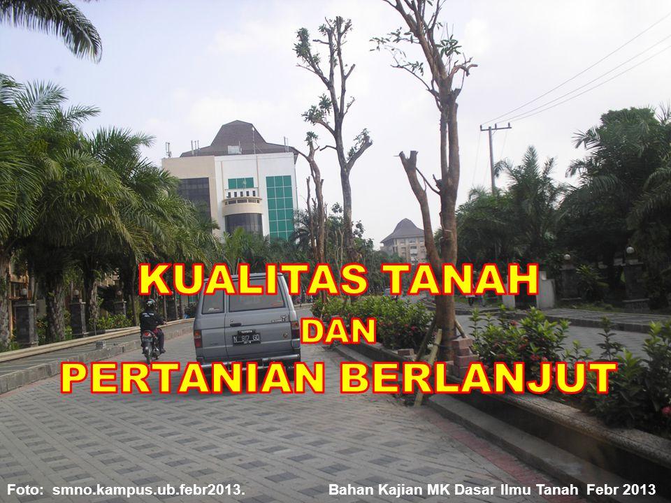 KUALITAS TANAH DAN PERTANIAN BERLANJUT