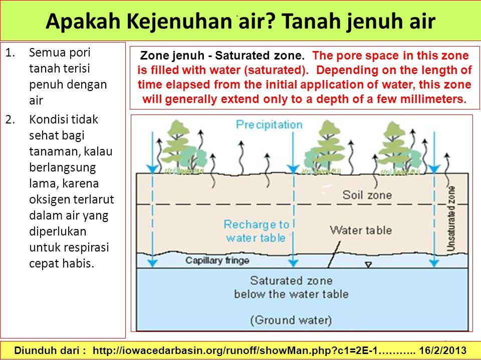 Apakah Kejenuhan air Tanah jenuh air