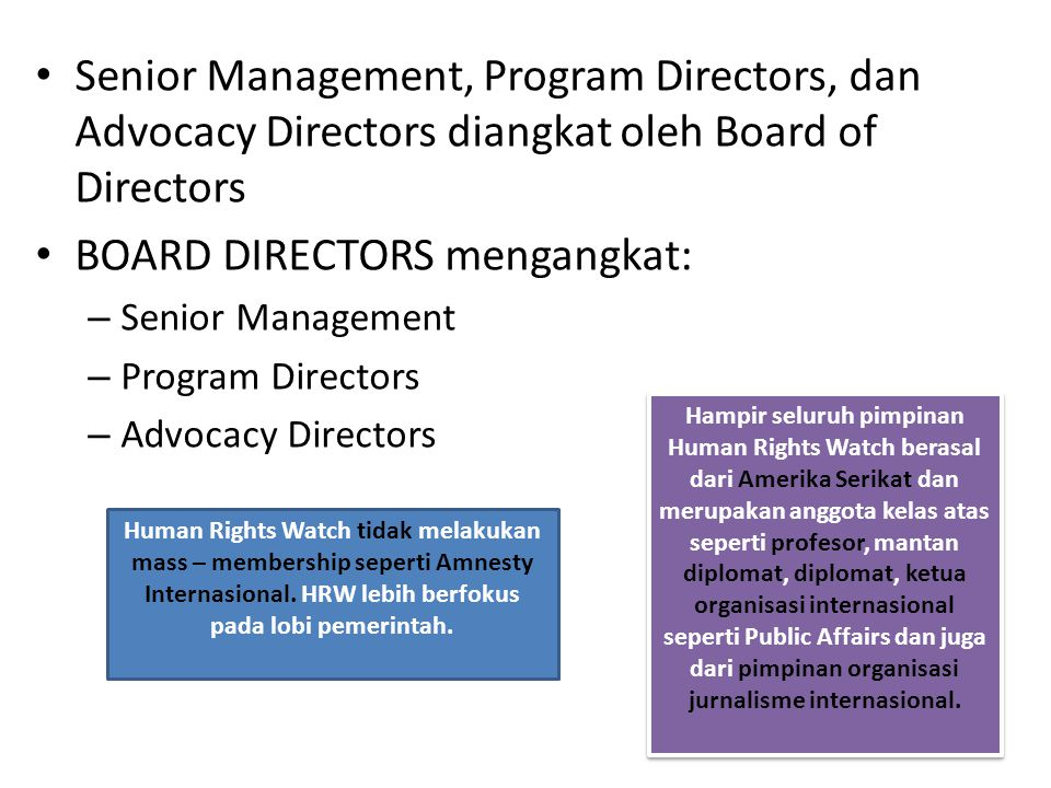 BOARD DIRECTORS mengangkat: