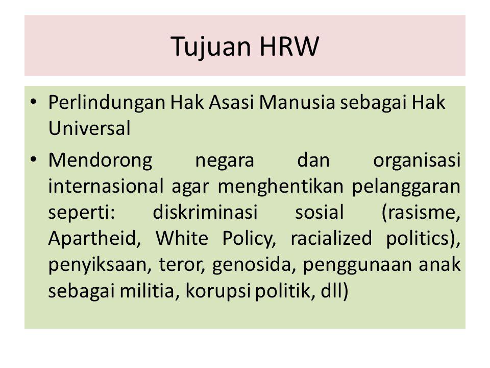 Tujuan HRW Perlindungan Hak Asasi Manusia sebagai Hak Universal