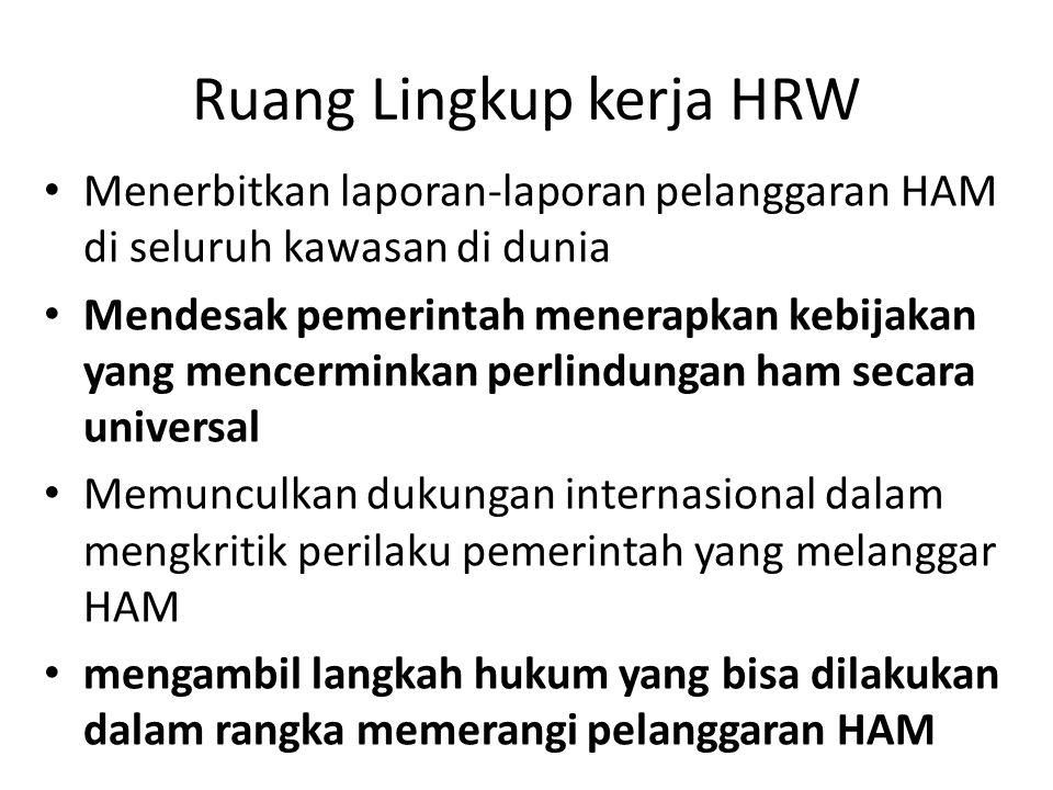 Ruang Lingkup kerja HRW