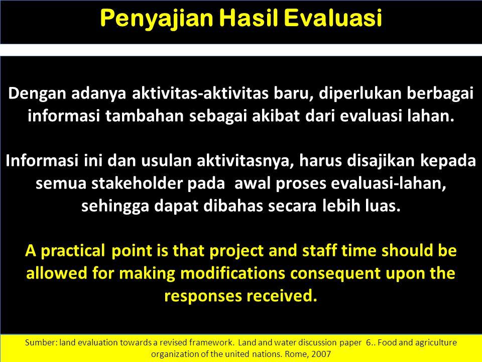 Penyajian Hasil Evaluasi
