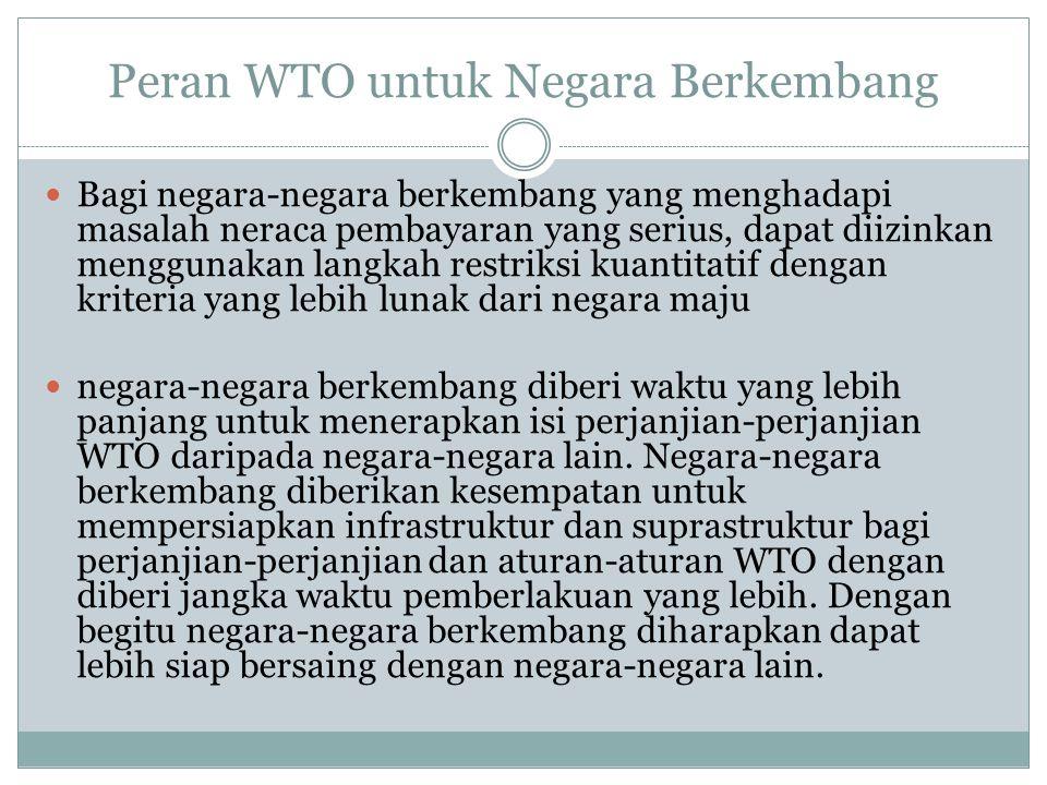 Peran WTO untuk Negara Berkembang