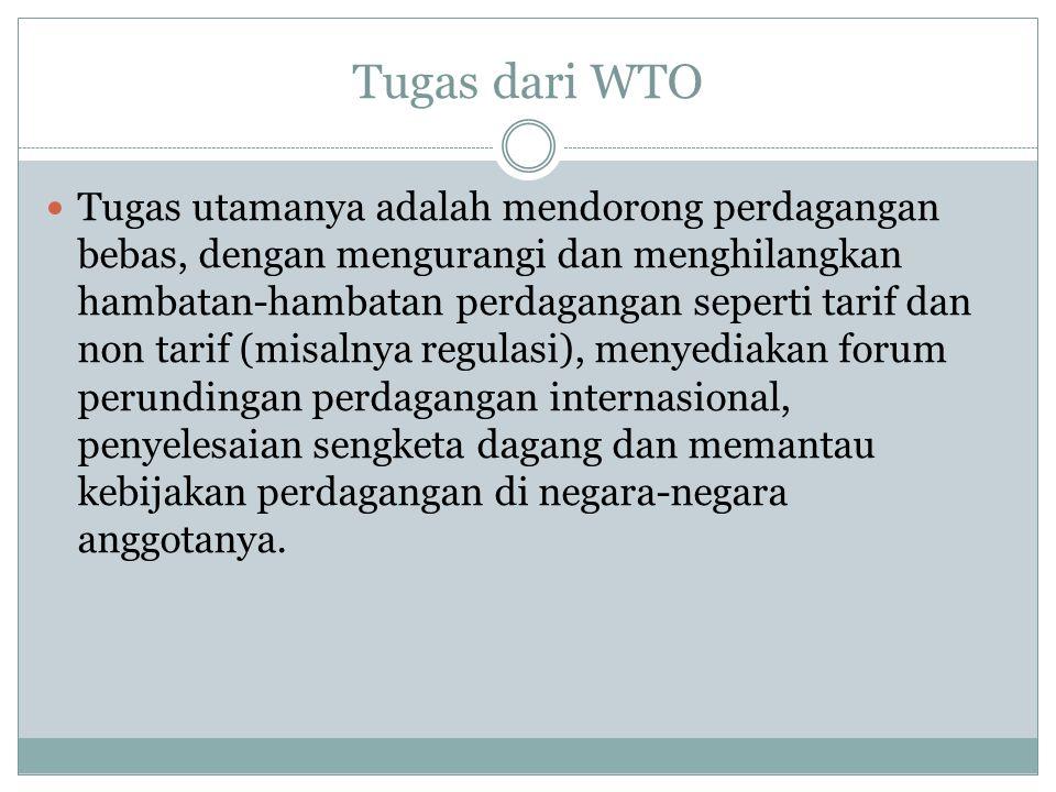 Tugas dari WTO