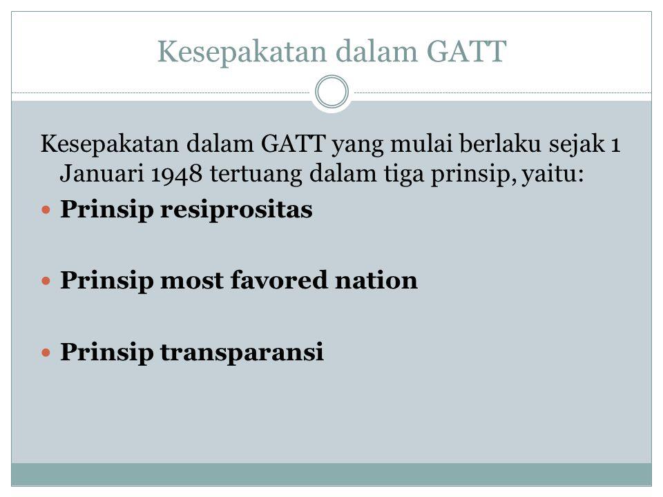 Kesepakatan dalam GATT