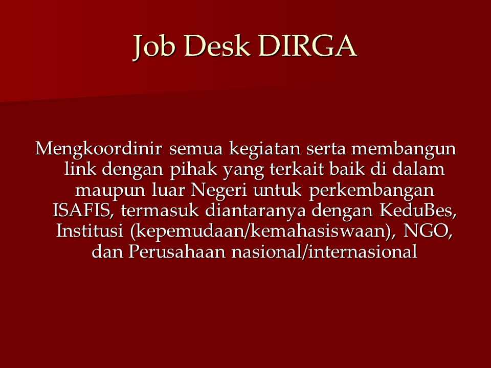 Job Desk DIRGA