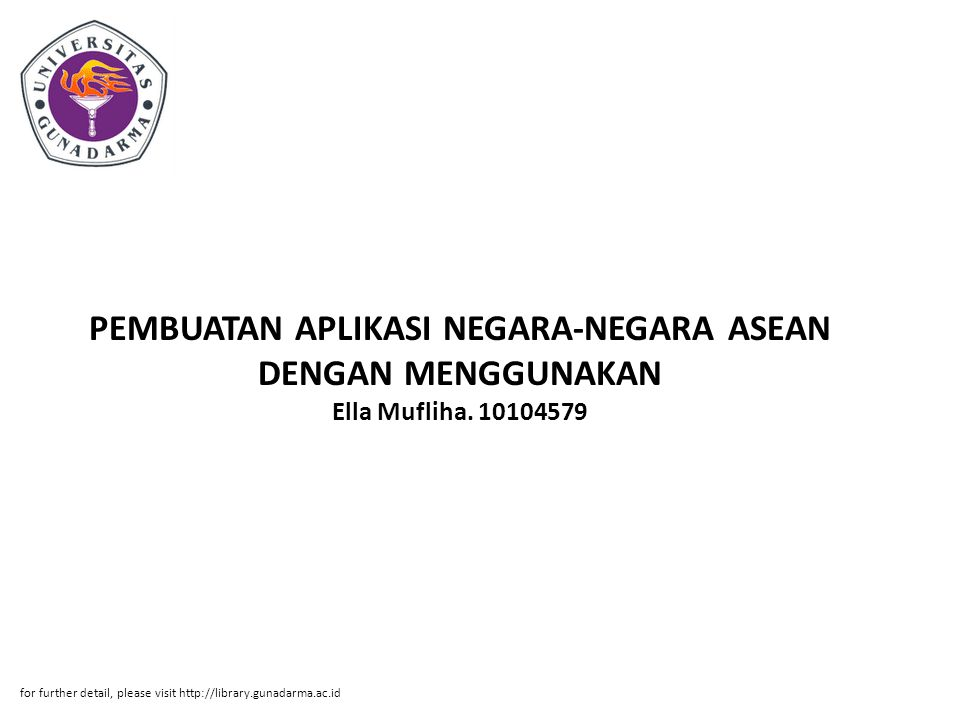 PEMBUATAN APLIKASI NEGARA-NEGARA ASEAN DENGAN MENGGUNAKAN Ella Mufliha