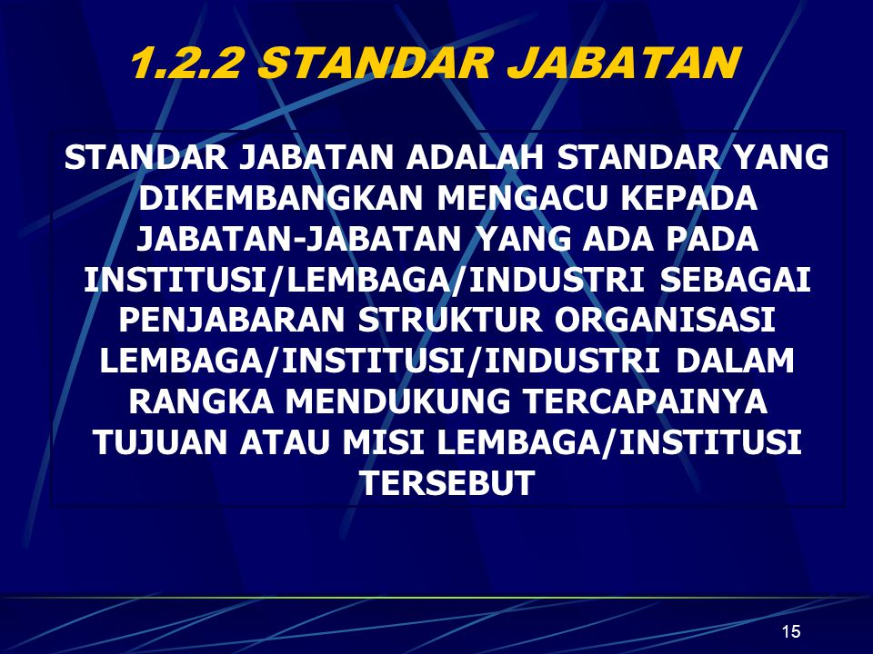 1.2.2 STANDAR JABATAN