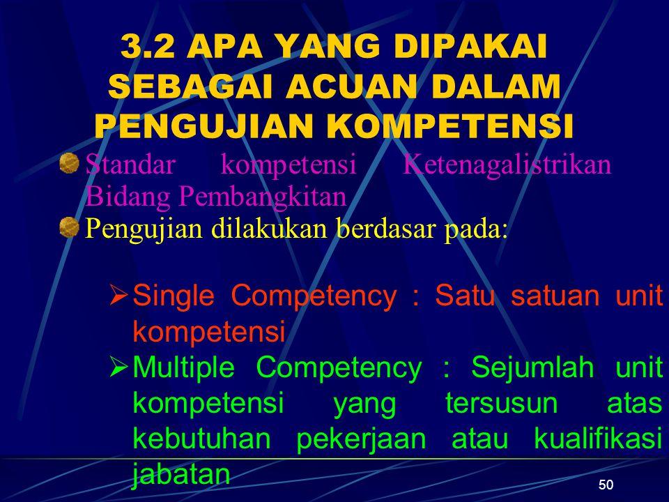 3.2 APA YANG DIPAKAI SEBAGAI ACUAN DALAM PENGUJIAN KOMPETENSI