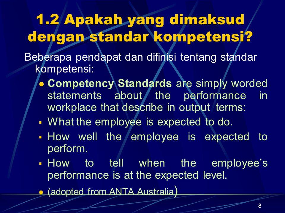 1.2 Apakah yang dimaksud dengan standar kompetensi