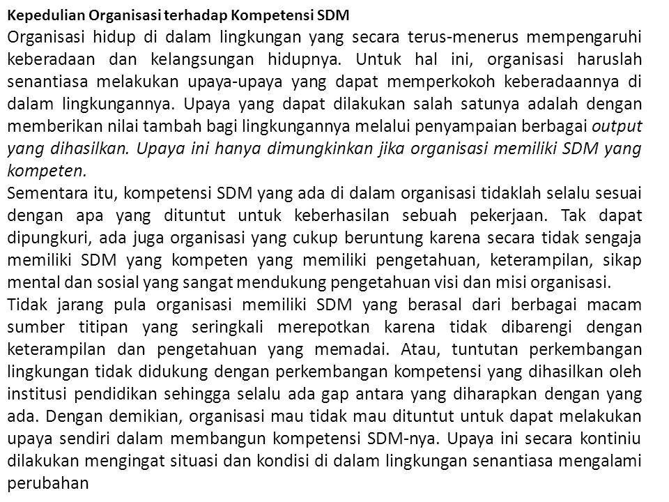 Kepedulian Organisasi terhadap Kompetensi SDM