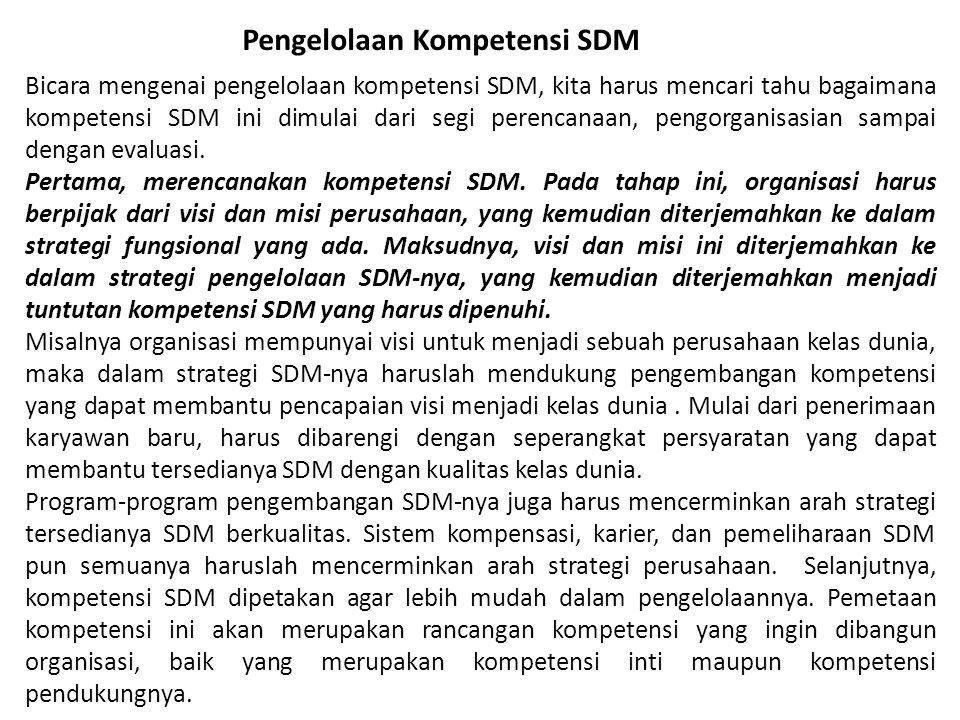Pengelolaan Kompetensi SDM