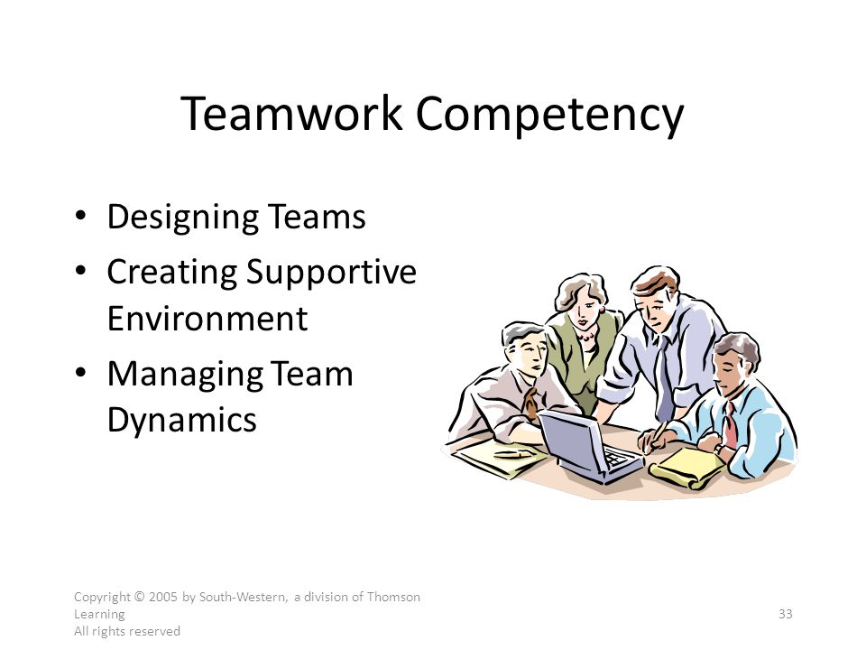 Teamwork Competency Designing Teams Creating Supportive Environment