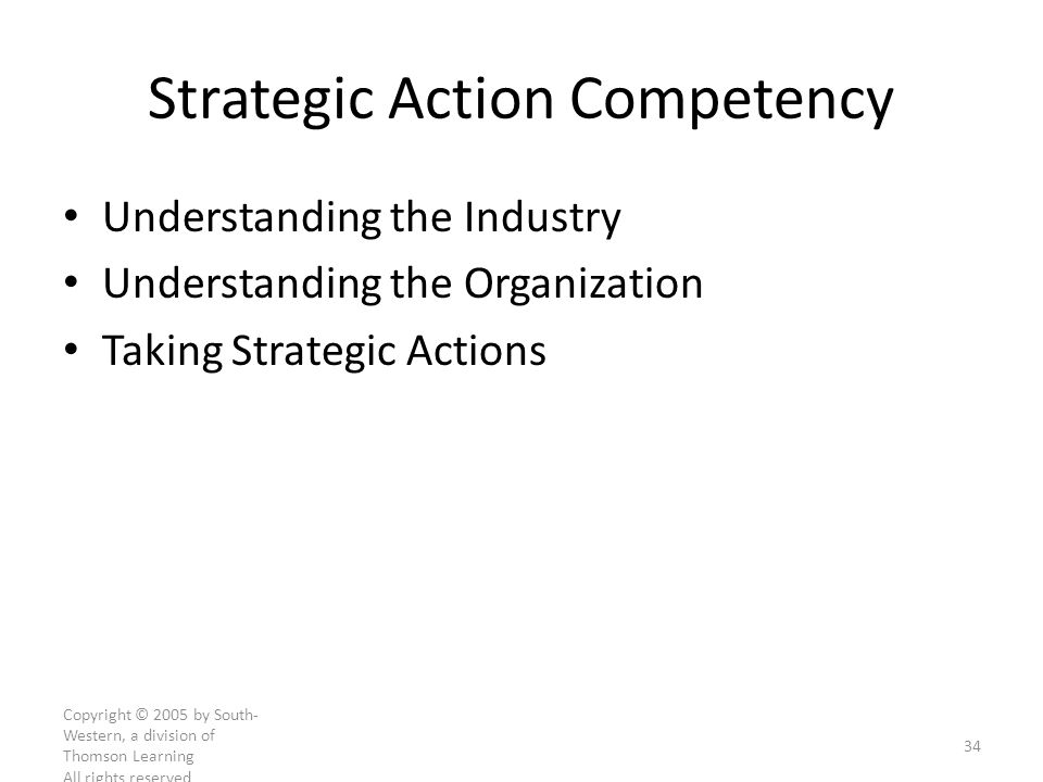 Strategic Action Competency
