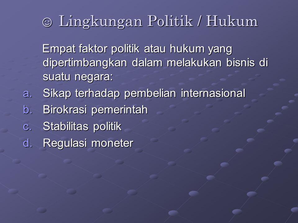 ☺ Lingkungan Politik / Hukum
