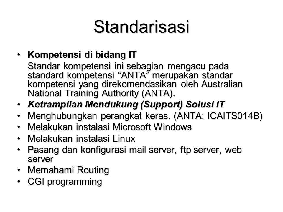 Standarisasi Kompetensi di bidang IT