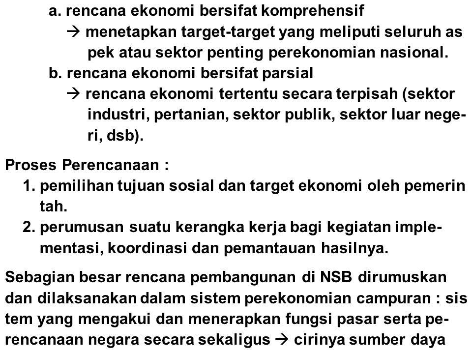 a. rencana ekonomi bersifat komprehensif