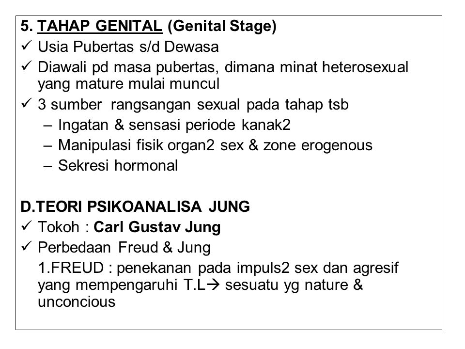 5. TAHAP GENITAL (Genital Stage)