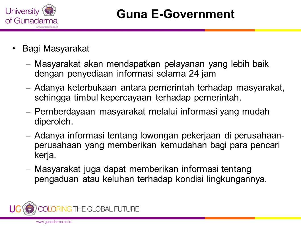Guna E-Government Bagi Masyarakat