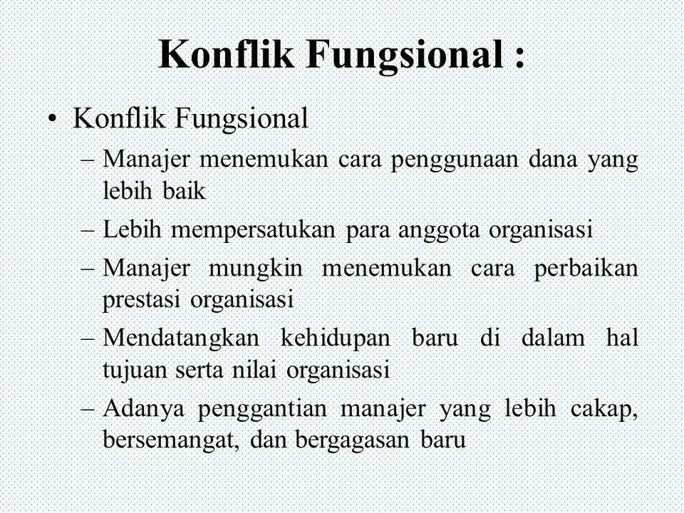Konflik Fungsional : Konflik Fungsional