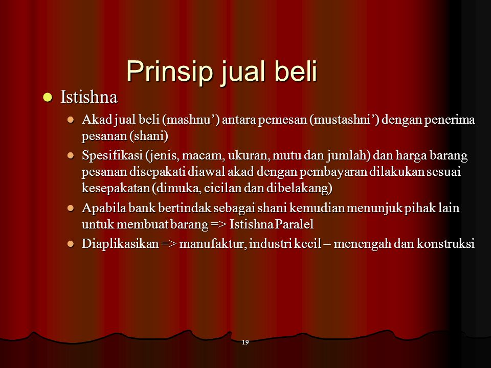 Prinsip jual beli Istishna