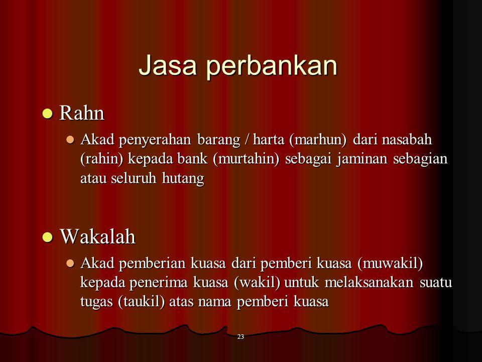 Jasa perbankan Rahn Wakalah