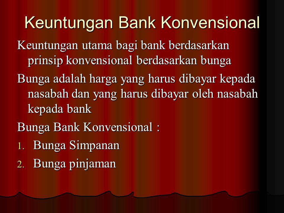 Keuntungan Bank Konvensional