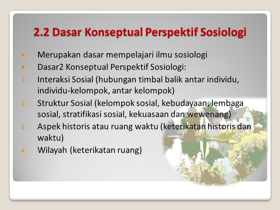 2.2 Dasar Konseptual Perspektif Sosiologi