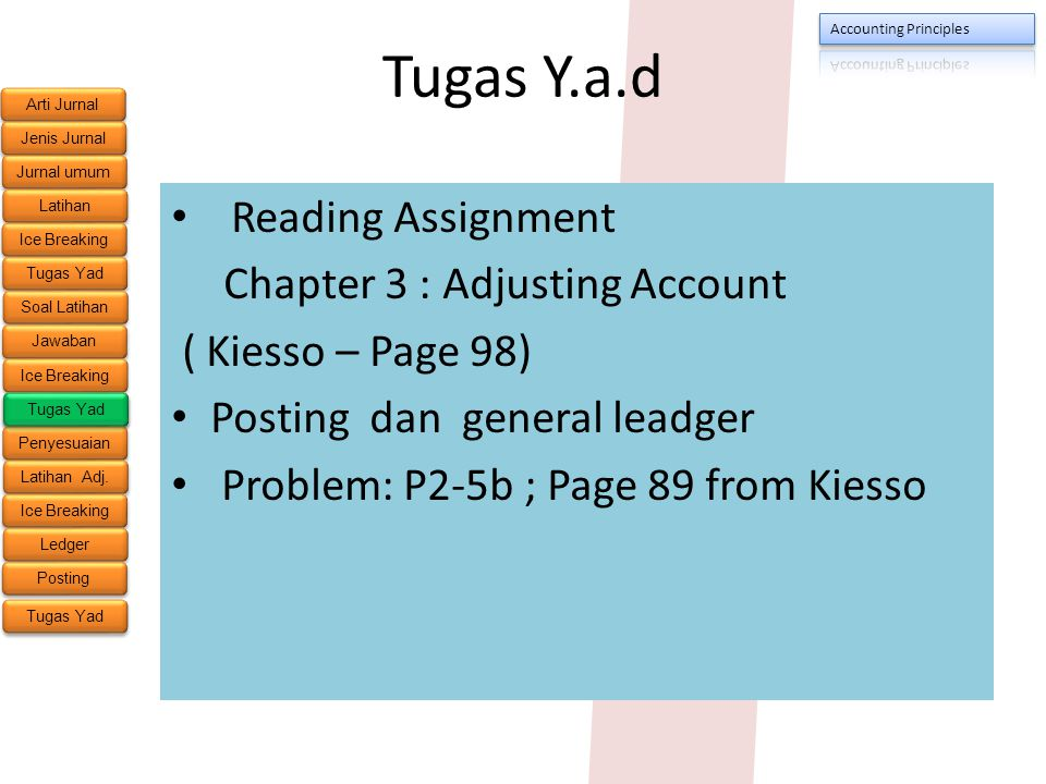 Tugas Y.a.d Reading Assignment Chapter 3 : Adjusting Account
