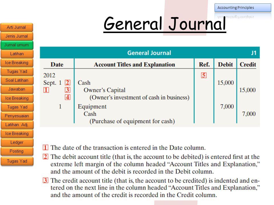 General Journal Jurnal umum