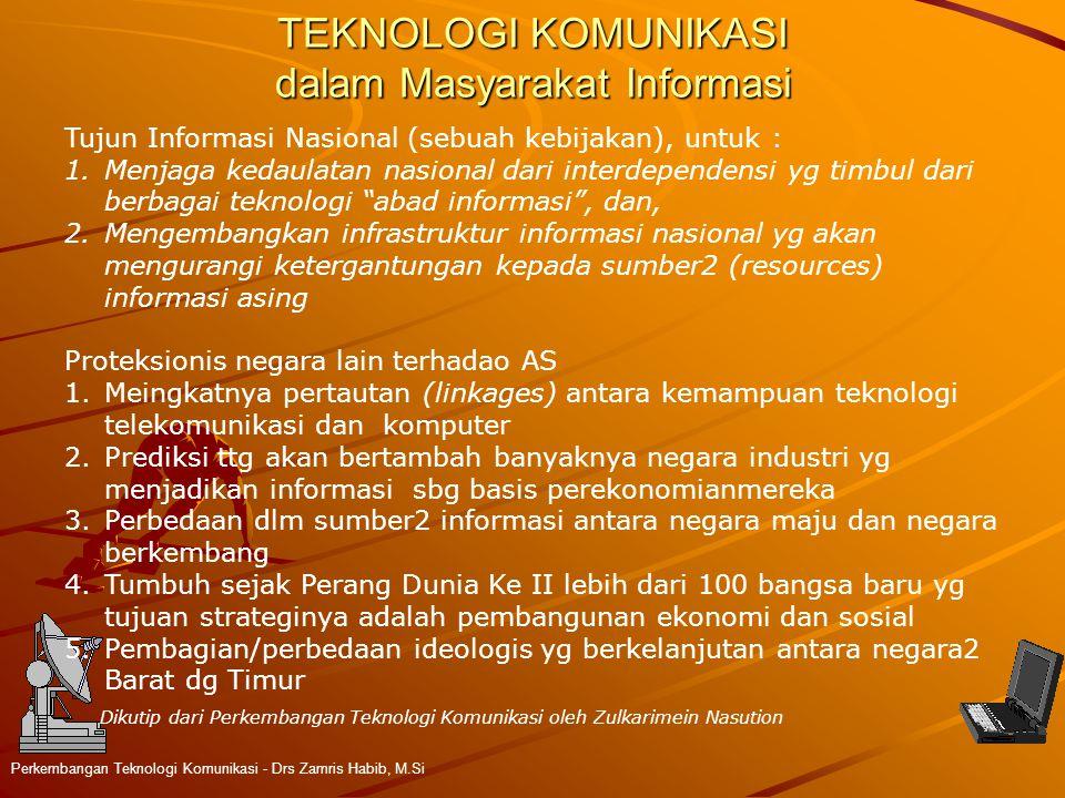 TEKNOLOGI KOMUNIKASI dalam Masyarakat Informasi