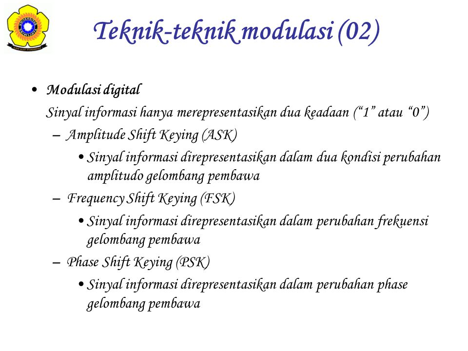 Teknik-teknik modulasi (02)