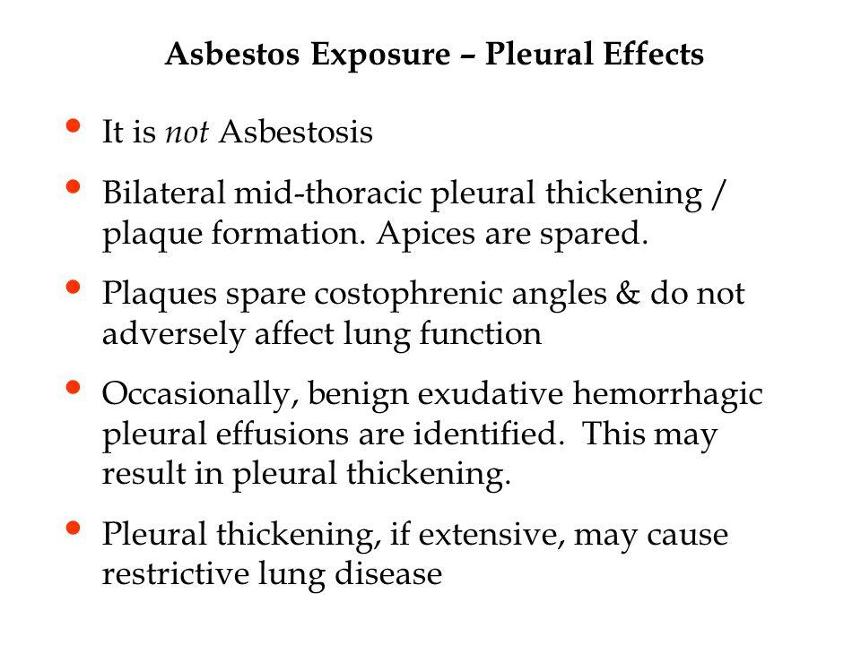 Asbestos Exposure – Pleural Effects