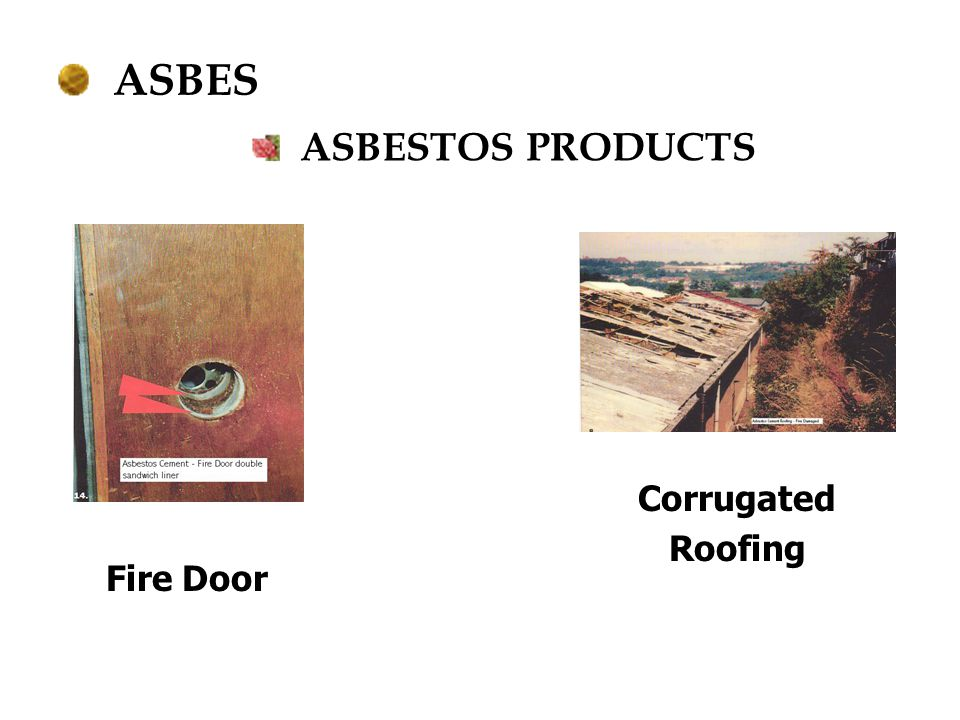 ASBES ASBESTOS PRODUCTS Corrugated Roofing Fire Door