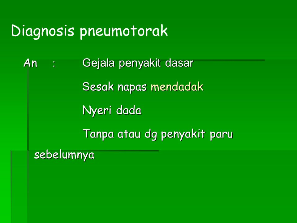 Diagnosis pneumotorak