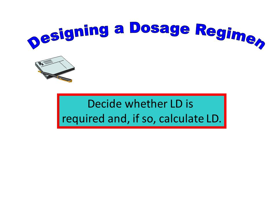 Designing a Dosage Regimen