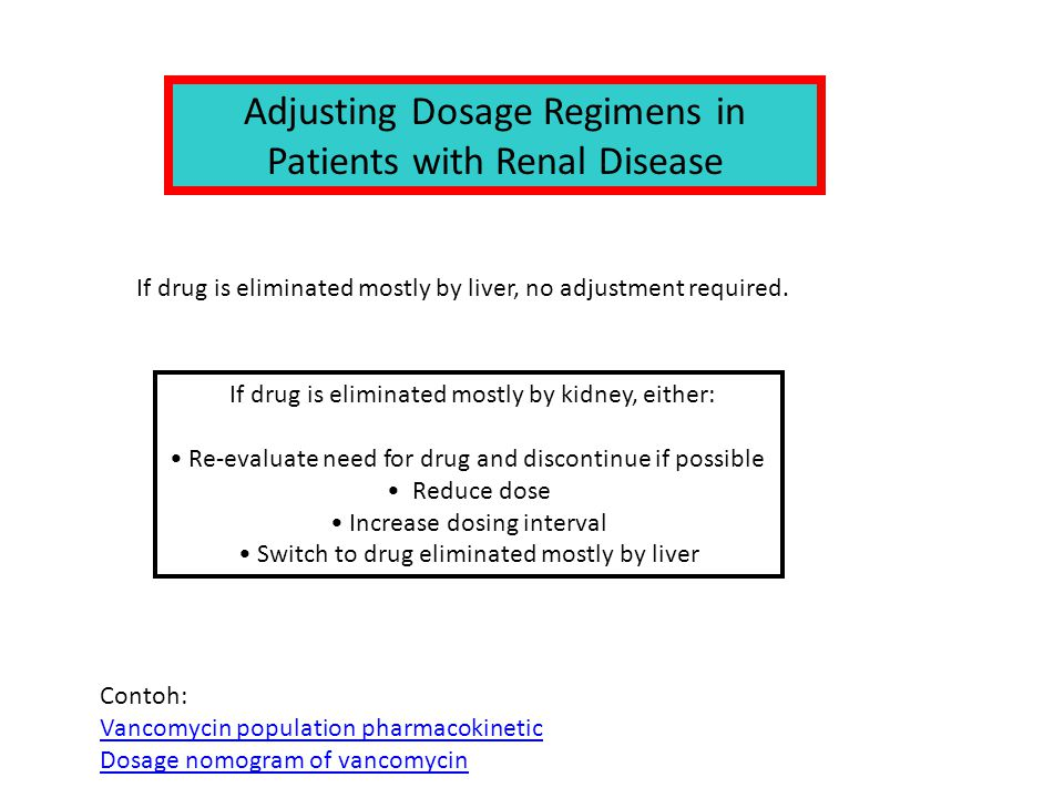 Adjusting Dosage Regimens in Patients with Renal Disease