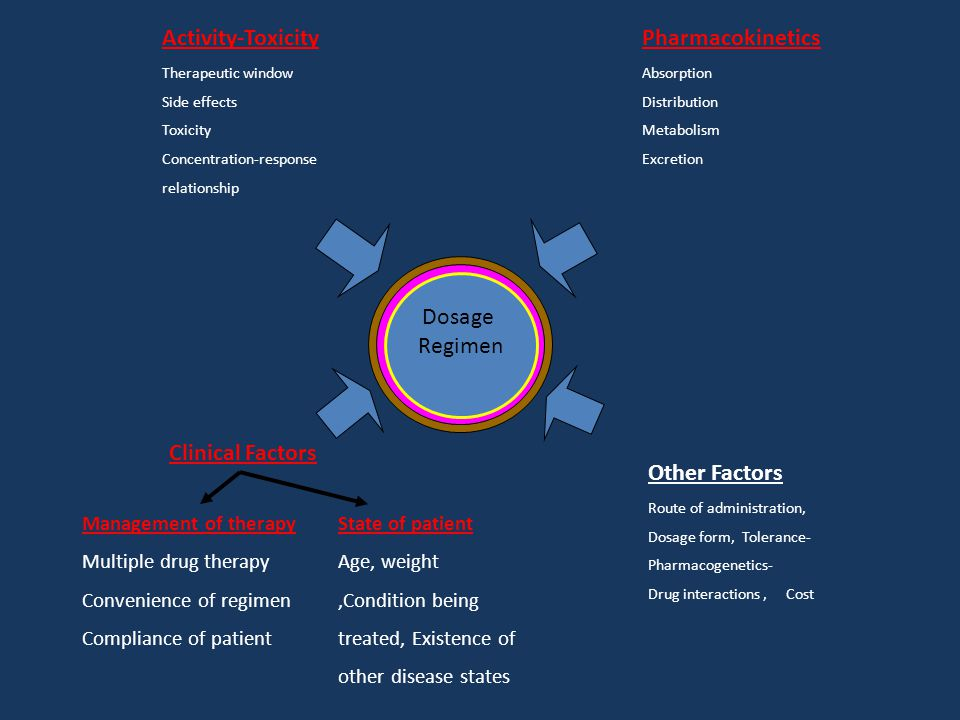Activity-Toxicity Pharmacokinetics Dosage Regimen Clinical Factors