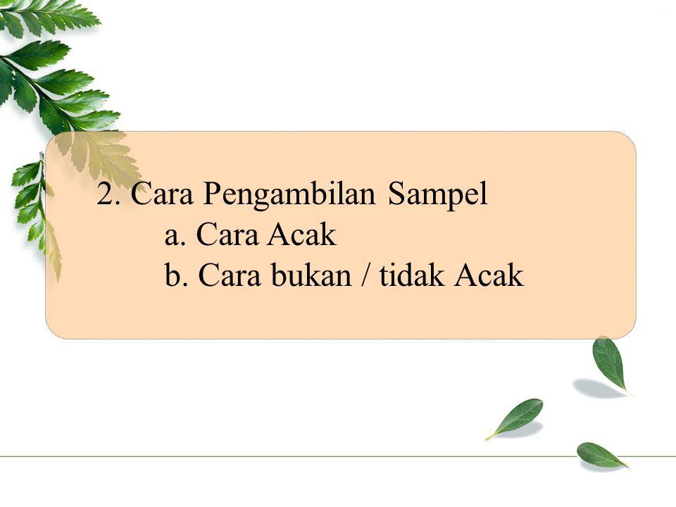 2. Cara Pengambilan Sampel